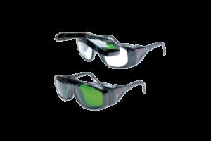 Okulary z podnoszonymi, przyciemnianymi szkłami Hypertherm.
